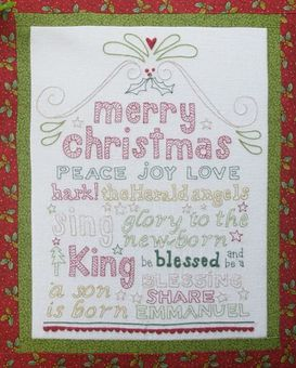 Be A Blessing - by Rosalie Quinlan -  Christmas Stitchery