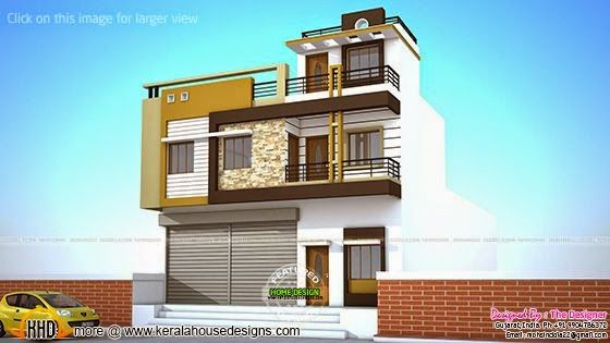 2 house plans with shops on ground floor kerala home design bloglovin - Bay window house plans elegance at its best ...