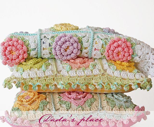 Victorian flower crochet baby blanket pdf pattern Dadas ...