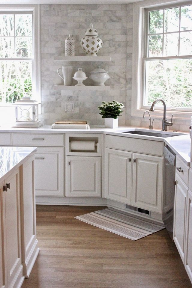 White kitchen love forever cottage bloglovin - Forever tile and stone ...