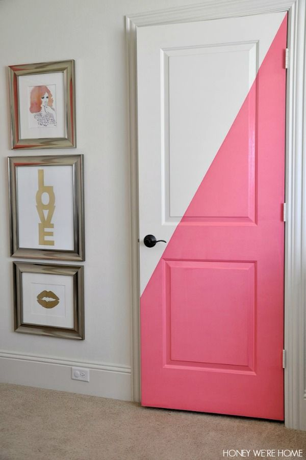 Diagonal painted office doors honey we 39 re home bloglovin for Room door design for home