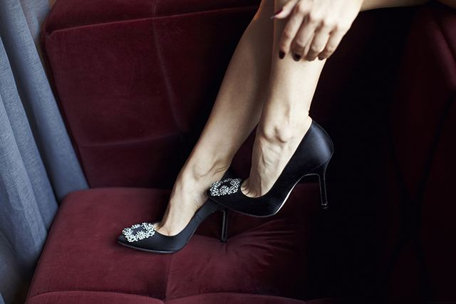 da3a501c1a5 Shoe of the Month: Manolo Blahnik 'Hangisi 105mm'   5 inch and up ...