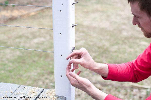 Diy wire railing tutorial sarah m dorsey designs for Diy rope railing