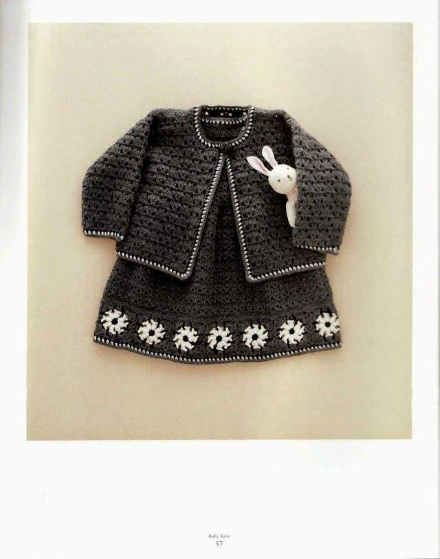 Crochet Patterns Explained : Crochet Pattern Explained for Little Princesses Fall -Winter Twin Set ...