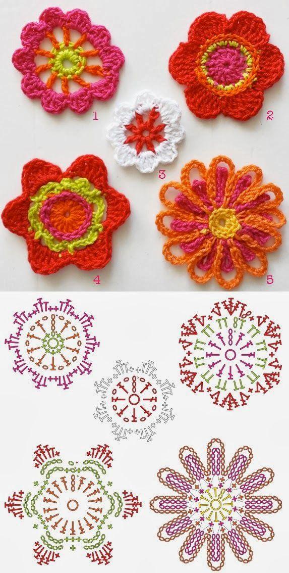 Bloemen Haken Crochet Flowers Bees And Appletrees Bloglovin