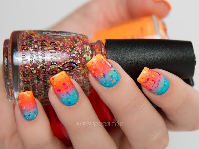 China Glaze Electric Nights Summer 2015 Swatch, Review and Gradient ...