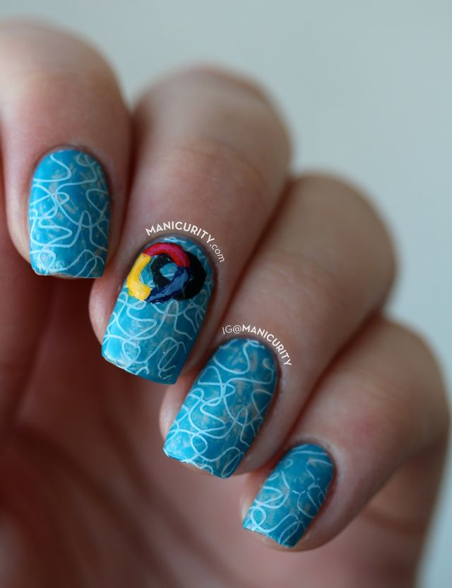 The digit al dozen does summer swimming pool nail art i love the different shades of blue and turquoise and the abstract shades in photos of swimming pools and really wanted to re create that on my nails prinsesfo Choice Image