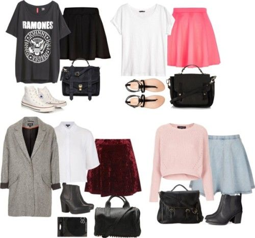Inspired By Zoella: Inspired Outfits With Skater Skirts By Zoella-clothes