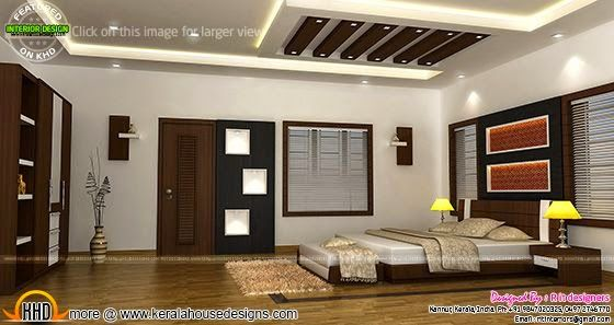 Bedroom interior design with cost kerala home design for Interior design bedroom kerala style