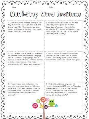 Addition And Subtraction Word Problems 3rd Grade - Yourhelpfulelf