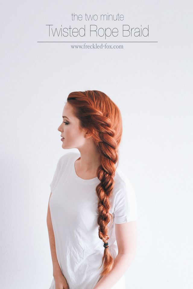 5d0aca75c8f The 2 Minute Rope Braid Hairstyle