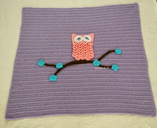 Free Crochet Pattern For An Easy Baby Blanket With Optional Owl