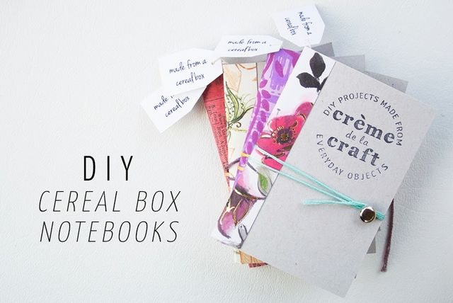 My diy cereal box notebook business cards crme de la craft you can find my original cereal box notebook tutorial here but i created a modified version for these extra mini notebooks below ccuart Image collections