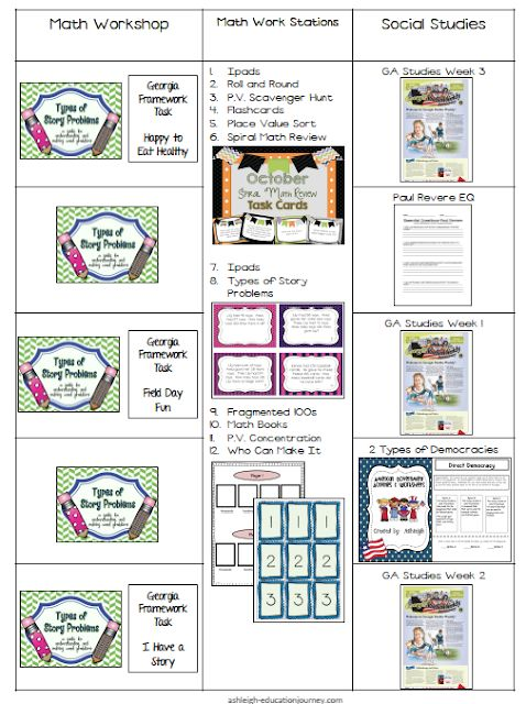 Visual Lesson Plans for 9-23 | Ashleigh's Education Journey