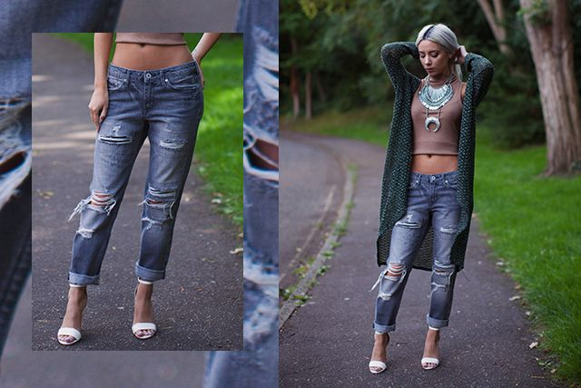 ebe6e5519d For me these relaxed, laid back boyfriend jeans break the norm from my  usual preferences of high waisted and skinny, I have a long torso and short  legs so ...