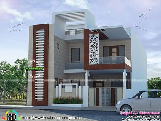 Decorative house plan by sk consultants kerala home for In home design consultant