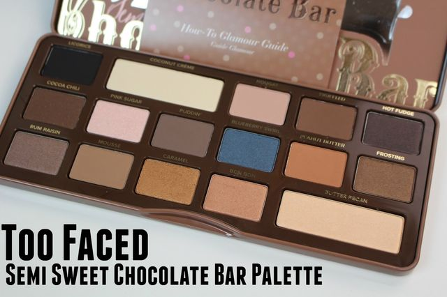 Review Swatches And Dupes Too Faced Semi Sweet Chocolate