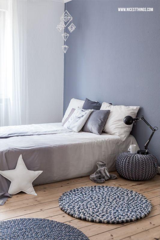 filzkugelteppich dip dye bettwsche und schlafzimmer roomtour