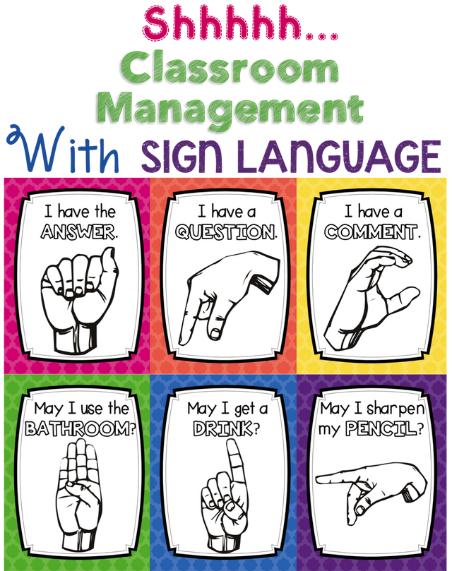 Shhhh! Classroom Management with Sign Language (FREE POSTERS) | Learning Lab Resources | Bloglovin'