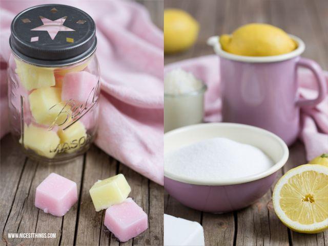 DIY Zucker-Zitronen-Peelingwürfel - 12 GOLD Gastgeschenketipps ...