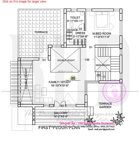 Flat Roof House Plan And Elevation Kerala Home Design