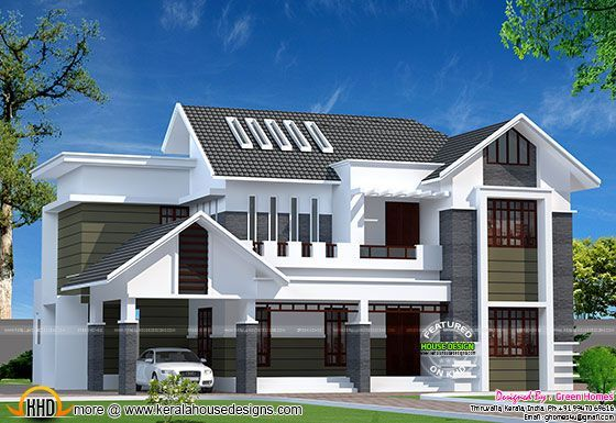 2800 sq ft modern kerala home kerala home design for Www kerala home plans