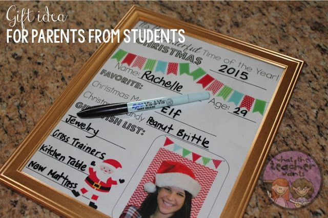 Christmas Gifts For Parents From Students.Christmas Gift Idea From Students To Their Parents What