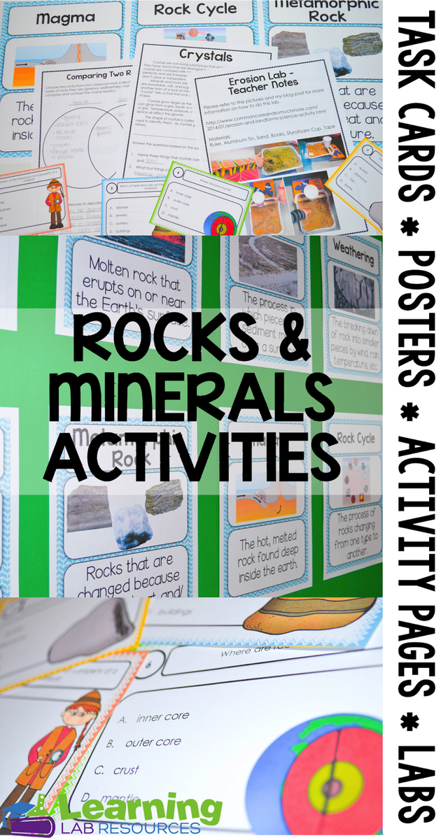 Rocks And Minerals Activities And Anchor Chart Learning
