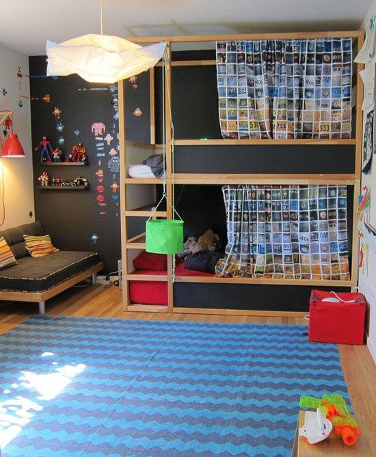 Letto A Castello Ikea Kura.Kura Bed Makeover Mommo Design Bloglovin