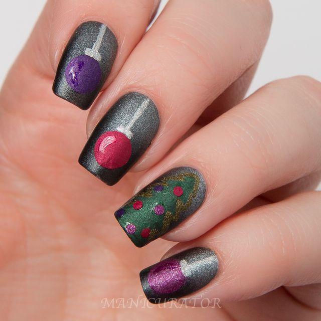 Zoya Matte Velvet Swatch Christmas Nail Art | Manicurator | Bloglovin\'