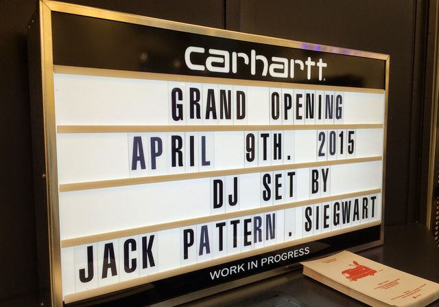 cc40a6896 EVENT: Grand opening of Carthartt store in Zürich | she.is.the.one ...