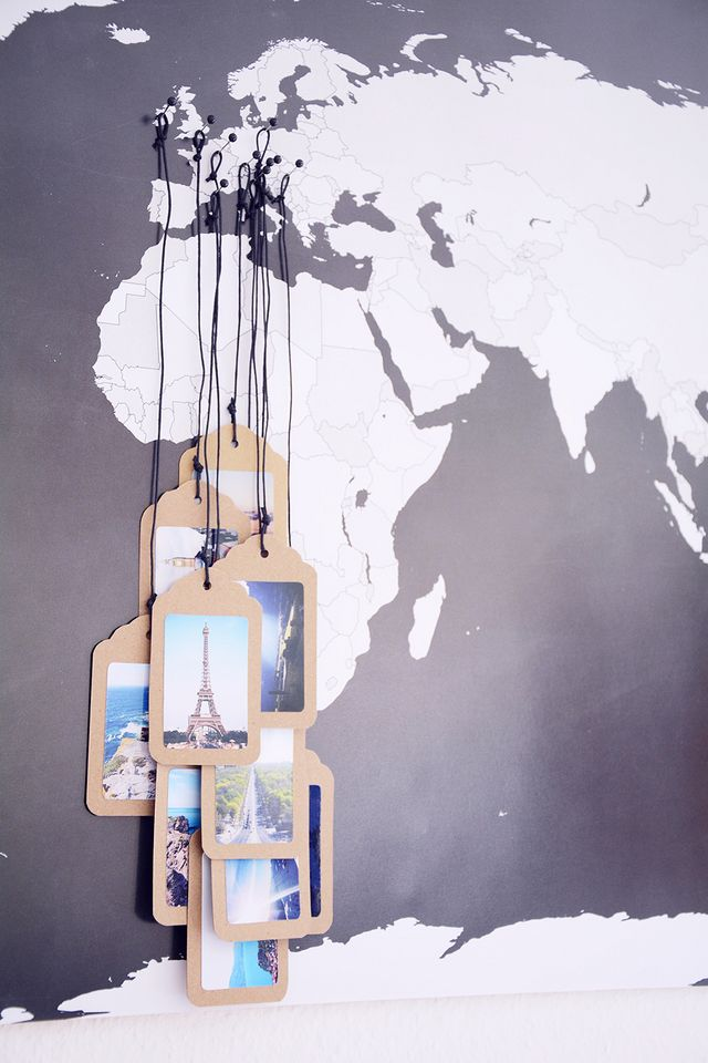 DIY/Interior: Tagging a World Map with your favorite Pictures ...