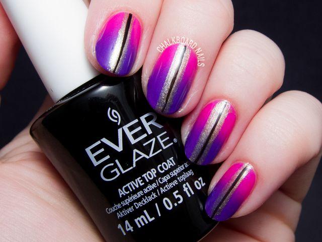 Girly Gradient Nail Art with EverGlaze by China Glaze | Chalkboard ...
