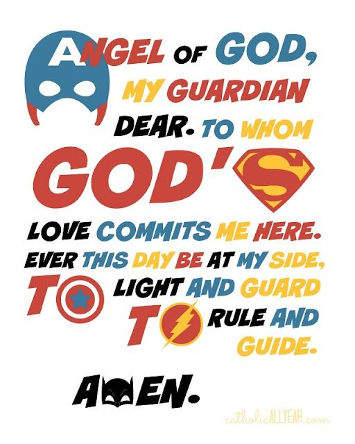 Guardian angels and goings on catholic all year bloglovin here are the guardian angel prayers featuring superheroes fandeluxe Image collections
