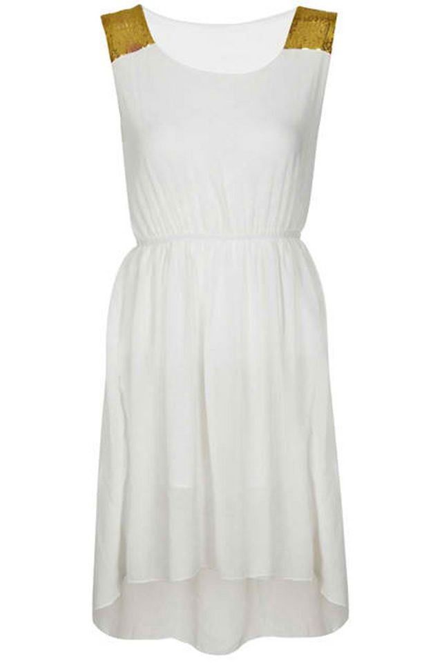 3a2698eb0a4 Cream Asymmetrical Hem Paillette Dress Mechanics  1. Must be a follower of  this blog via Bloglovin or GFC. 2. Register on ROMWE