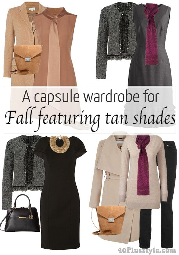 ebf63dd9566717 A capsule wardrobe for fall featuring tan shades – Which of these 9 unique  looks is your favorite