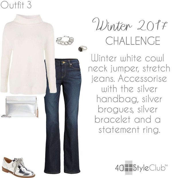 Take the outfit below for example. It s very simple with just jeans and a  sweater. The silver shoes make this very classic look more edgy and  therefore more ... 137f434c8