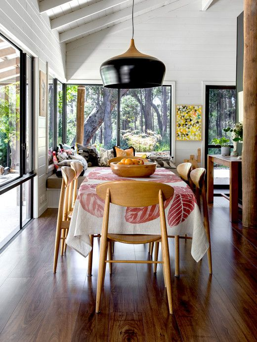 Dining Room Kate Stokes Coco Flip Pendant Chairs From Feel Good Design And Bonnie Neil Tablecloth Remedy Photo Angelita Bonetti