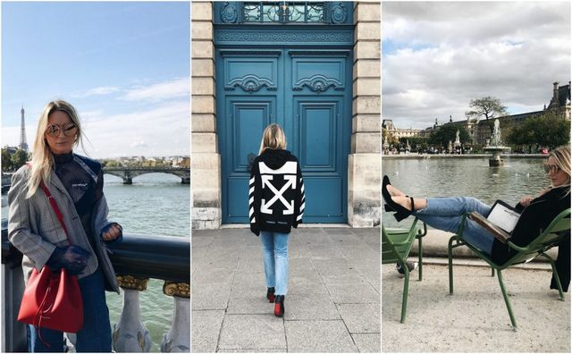 84e2222d50c11 I wore this first look to attend the Ungaro and Alexis Mabille show. A  blazer in my favorite print for Fall, my new Lancaster bag which I chose  during their ...