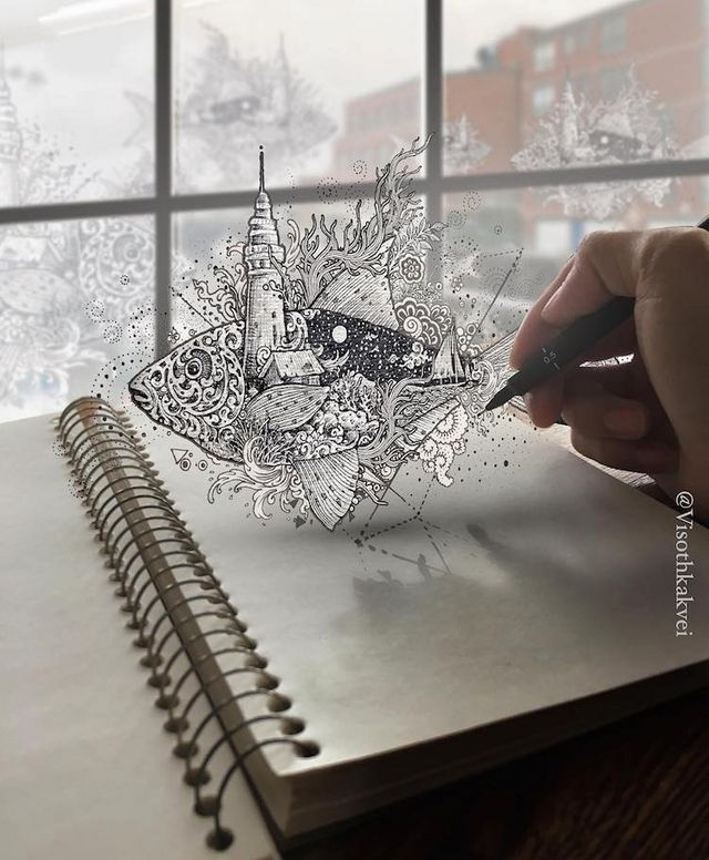 The Artist Also Experiments With Digital Drawing To Fuse His Work Real Life
