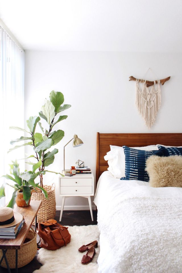 At home with new darlings in phoenix arizona a beautiful mess bloglovin - Indoor plant for bedroom ...