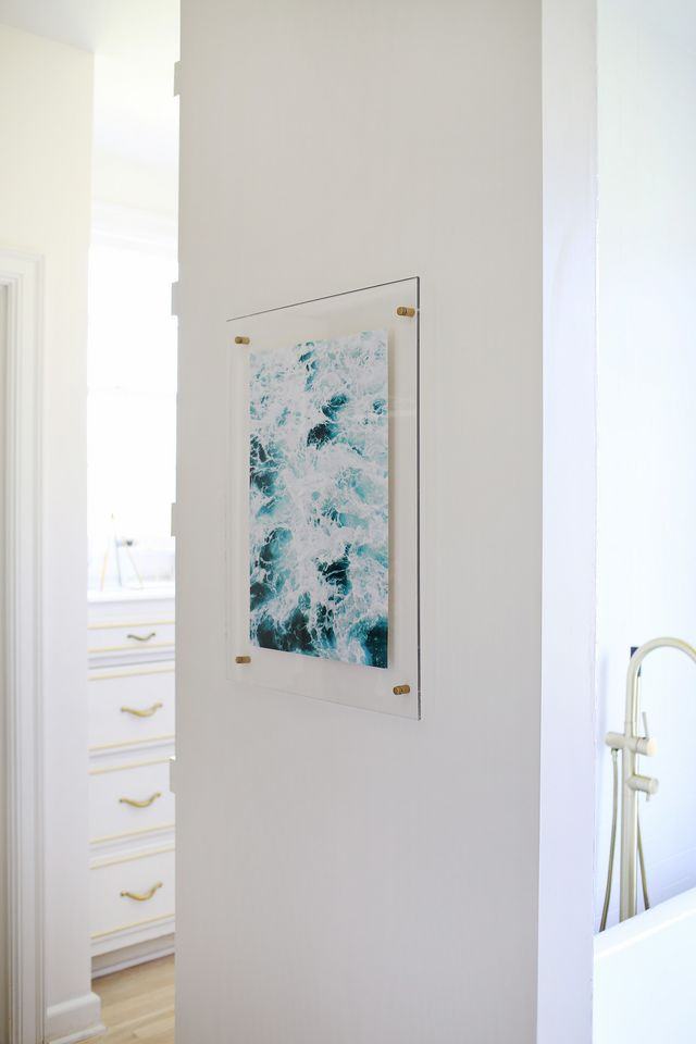 Floating acrylic frame diy a beautiful mess bloglovin for Diy frameless picture frames