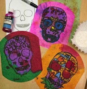 Day Of The Dead Skull Paintings