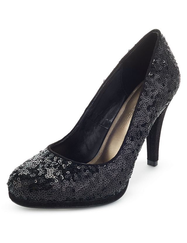 0140aa43998 Sequin Embellished Platform Court Shoes with Insolia from M S £29.50 One to  let your feet do the talking here.