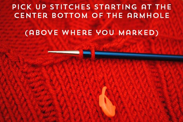 a22a6c779095 How to knit seamless set-in sleeves from the top down