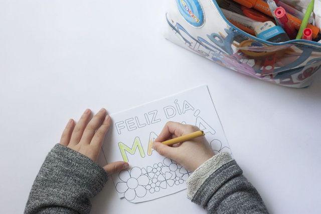Tarjeta para colorear para el Día de la madre | Cosas Molonas ...