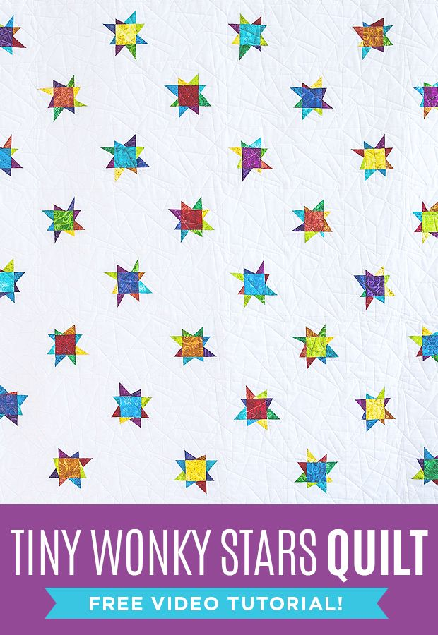 New Friday Tutorial Tiny Wonky Stars Quilt The Cutting Table
