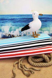 Swafing The open Sea Saegull Wave grau Lila Lotta Jersey maritim Möwen Wellen