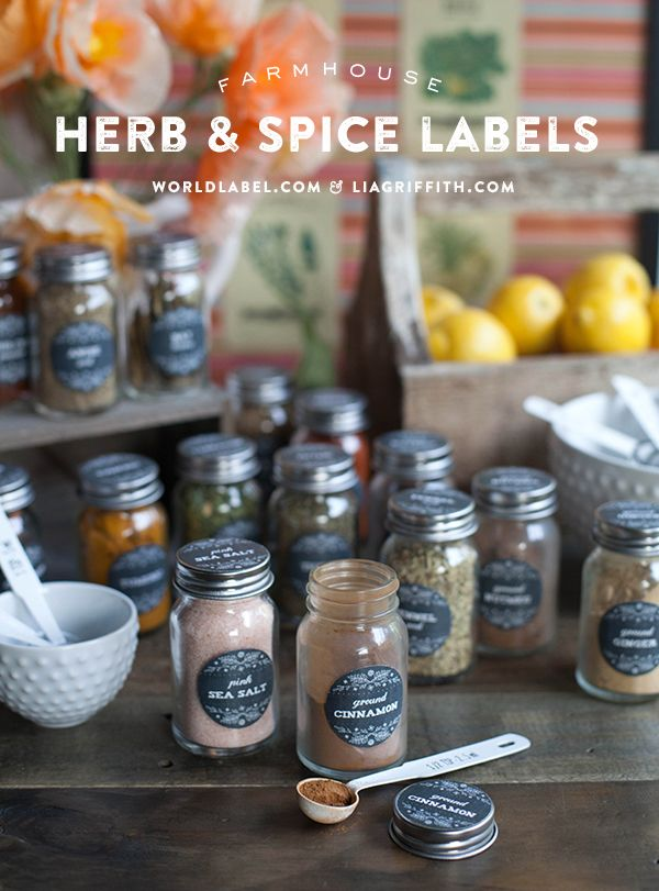 Printable Farmhouse Herb Amp Spice Labels World Label Blog