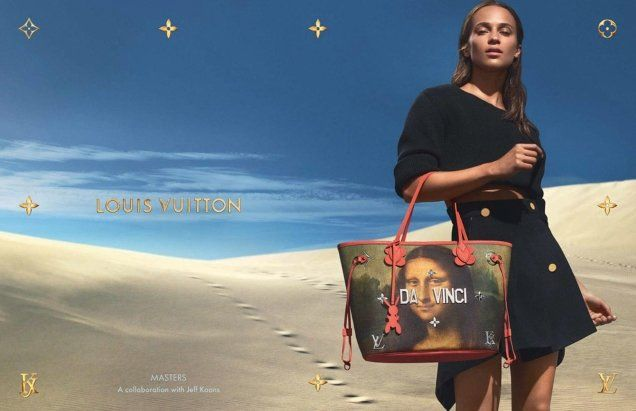 5b3d662bd5 The new campaign promoting the Vuitton x Koons collection stars Nicolas  Ghesquière s muse Alicia Vikander